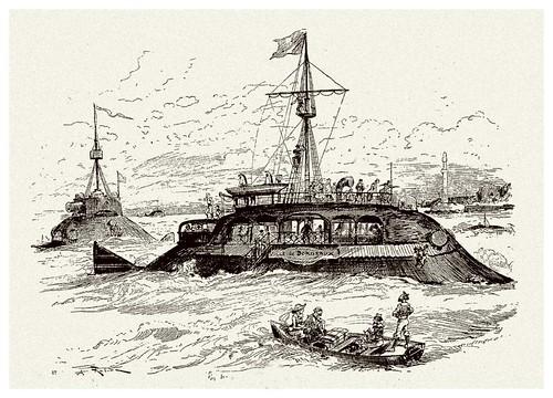 022-La nueva marina-Le Vingtième Siècle 1883- Albert Robida