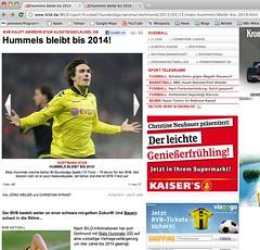 bild.de: Bericht über Vertragsverlängerung von Mats Hummels bis 2014