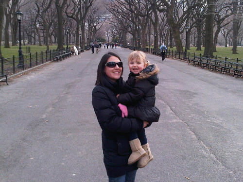 Mummy and Zo, Central Park