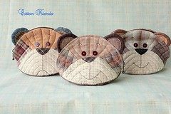 Teddy Bear pouch - Etsy (STORY QUILT) Tags: diy quilt stitch handmade craft sew purse pouch teddybear kawaii patchwork