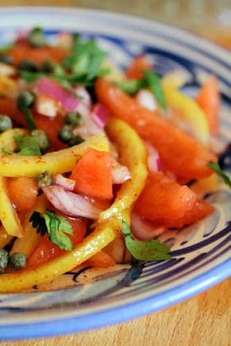Moroccan preserved lemon & tomato salad with capers 1456 R
