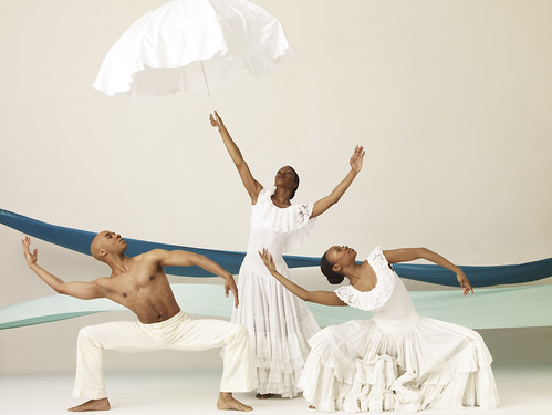 AAADT's Matthew Rushing, Briana Reed and Rosalyn Deshauteurs in Alvin Ailey's Revelations. Photo by Andrew Eccles.