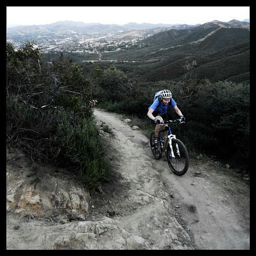 This past season's rain washed a lot of dirt off the trails above Newbury Park, exposing a lot of rock, which has made the steep climb oh so enjoyable. by BroAndDonna