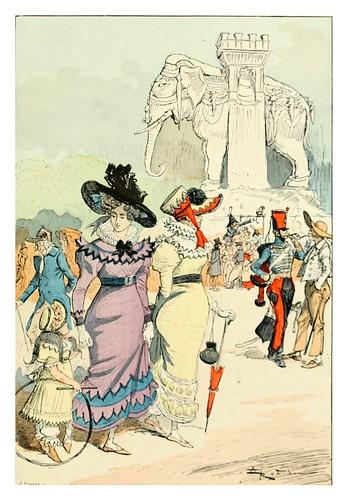 030-El elefante de la Bastilla-Le 19e siècle 1888- Albert Robida