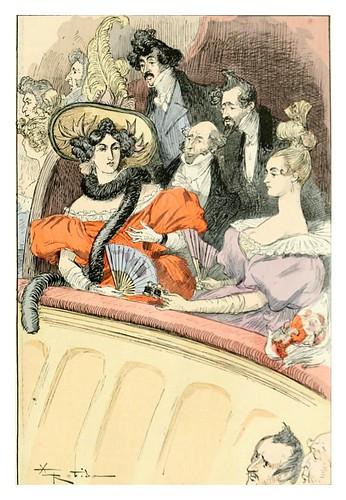 023-Un palco un dia de estreno romantico-Le 19e siècle 1888- Albert Robida