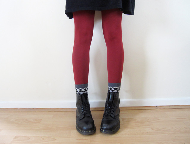 red tights doc martens