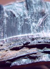 Australian Crocidolite Ore (Asbestiform Riebeckite) (Asbestorama) Tags: blue mining mineral ore fibers asbestos fibrous riebeckite amphibole chatoyant asbestiform