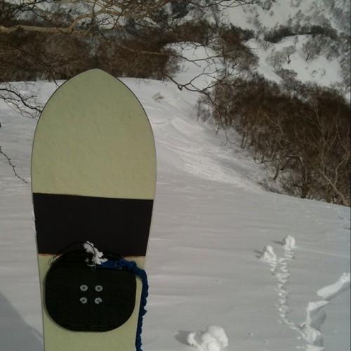 前山ストップ雪。ノーボードは厳しかったw