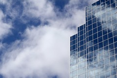 Windows to the Sky (ICT_photo) Tags: blue windows sky toronto ontario reflection building clouds office mississauga ictphoto gettyimagescanada ianthomasguelphontario