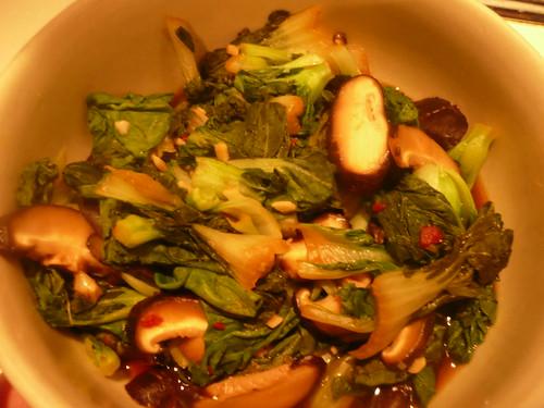 Mushroom Bok Choy Hash