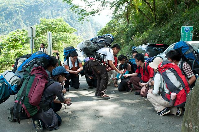 入山前的小儀式