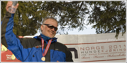 Sled Dog Sprint Unlimited Class World Champion 2011: Klaus Starflinger, Germany