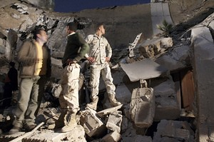 Libyan building destroyed by imperialist bombs dropped on this North African state. The western states have targeted the oil-rich nation for regime change. by Pan-African News Wire File Photos