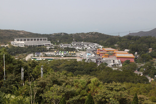 Ngong Ping Village, a tourist trap built as part of the Ngong Ping 360 cable car development