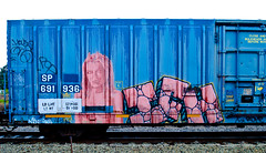 Ich (TheHarshTruthOfTheCameraEye) Tags: train graffiti yme northern ich freight ichabod californa benching