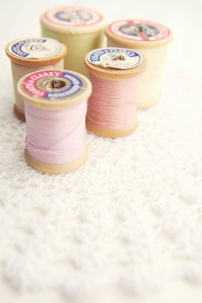 Vintage Pink Spools