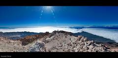 a 3.718 metros (- GD photography -) Tags: sol volcano high canarias crater pico tenerife alta montaña teide metros panorámica volcán cañadas 3718