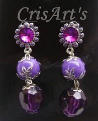 Cris Campos (CrisArt's by Cris Campos) Tags: bijoux colagem brincos bijus bijuterias acessorios pedraria