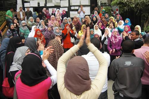 اعتصام طلبة الاعلام-تصوير داليا العقاد