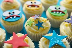Monster Birthday Cupcakes (The Cupcake Studio) Tags: birthday boy monster kids star cupcake kidscake kidscupcake boycupcake