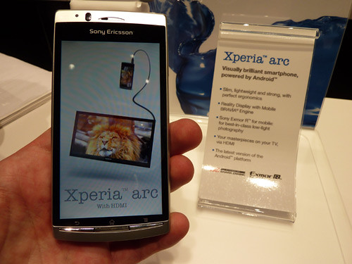 Sony Xperia Arc ir Xperia X10 gaus Android 2.3 update