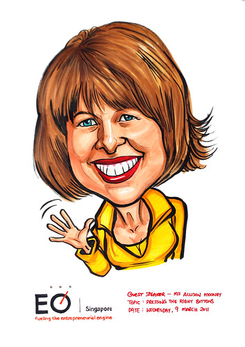 Ms Allison Mooney Caricature for EO Singapore