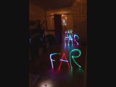FarAway (FDU4) Tags: light lightpainting painting words text away indoor animation far stopmotion