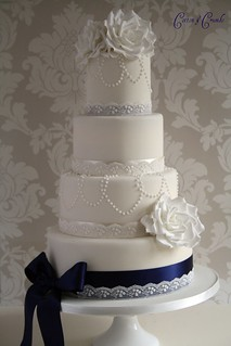 Today's wedding cake by Cotton and Crumbs