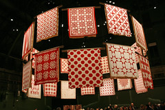 A Circle of Quilts (jschumacher) Tags: nyc quilts uppereastside americanfolkartmuseum parkavenuearmory infinitevarietythreecenturiesofredandwhitequilts