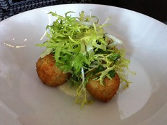 Fishcakes at Cafe Fish in Edinburgh