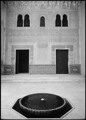 Alhambra_05 (Chris Protopapas) Tags: art fountain architecture facade spain nikon decoration palace symmetry espana alhambra moorish granada andalusia alandalus nikons3 drumscanner visipix hells3900 itsnotacapture