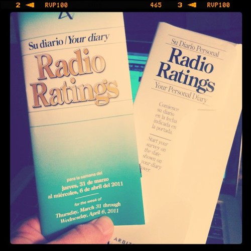 Can I just tell Arbitron I'm on Pandora & my iPhone? Radio ratings diary