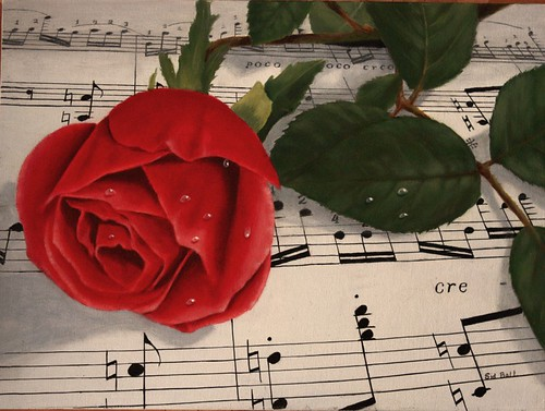 Musical Rose by Sid's art