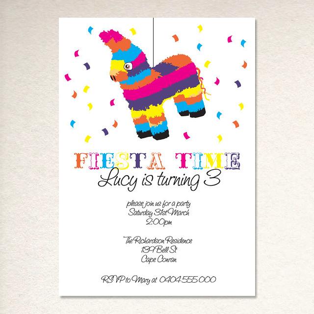 pinata party invite