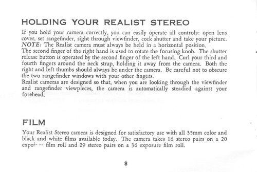 realist stereo camera instruction manual 8