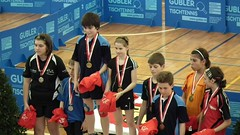 Podium Mixed doubles U13 (Cavabienmerci) Tags: girls boy sports boys girl sport youth de table schweiz switzerland championship suisse geneva geneve swiss jeunesse tennis ping pong genf u11 tischtennis u13 2011 suisses championnats