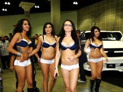 DUB Show Car Models, Los Angeles CA. (Harvey-Harv) Tags: girls sony bikini hotgirls dub carshows losangelesca dubshow girlsinbikini modelgirls sonyglens dschx1 sonydschx1 losangelesdubshow 2011dubshow
