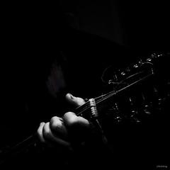 Mandolin (-clicking-) Tags: life lighting light blackandwhite playing monochrome square blackwhite play hand mandolin grayscale nocolors playingmusic blackwhitephotos absoluteblackandwhite bestcapturesaoi playingmandolin