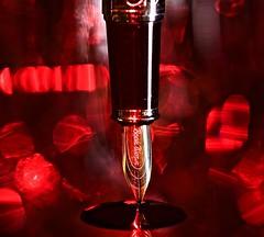 Dip your tip (johnsinclair8888) Tags: pen gold bokeh art red sparkle fountainpen nikon sigma 105mm macromondays ppep