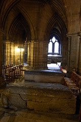 Inside Glasgow cathedral (68) (dddoc1965) Tags: dddoc davidcameronpaisleyphotographer glasgow cathedral necropolis landmark scotland october 7th 2016 cloudy precinct autumn yellow trees windows ceiling stone arcitech flags kenny game thrones