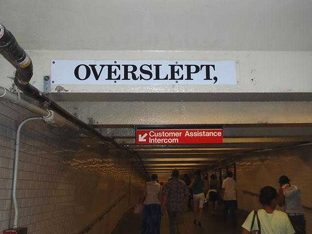 Overslept,