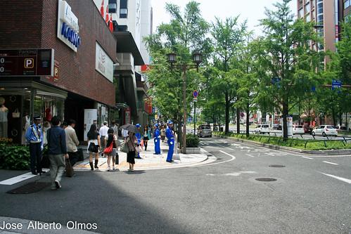 Paseando por la avenida Osaka