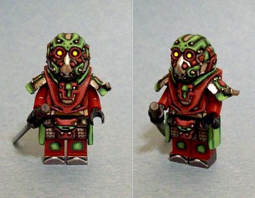 Custom minifig Deep Eyes Samurai