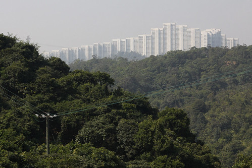 Looking over towards 'Wonderland VIllas', Kwai Chung from the Kam Shan Country Park