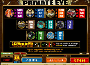 free Private Eye slot mini symbol