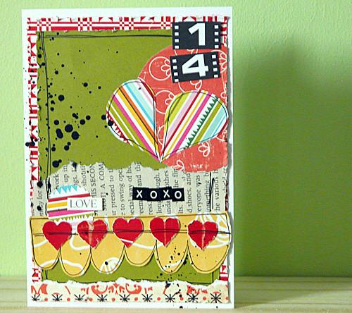 xoxo - handmade card