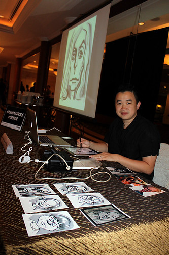Ipad digital caricature live sketching for AES Sports Showdown -p