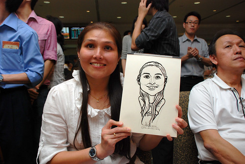 caricature live sketching for Thorn Business Associates Appreciate Night 2011 - 23