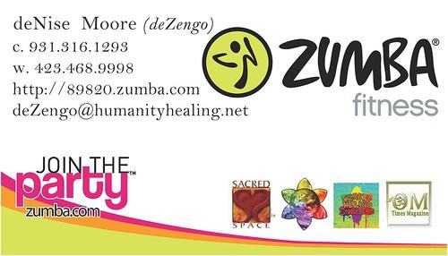 SACREDspace :: Zumba :: Business Card