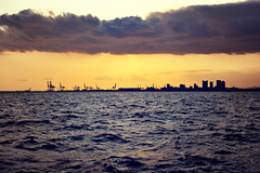 Unexplored region (y2-hiro) Tags: city sea sky building clouds landscape nikon kobe 2470mm d3s